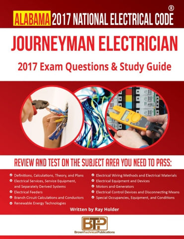 Alabama 2017 Journeyman Electrician Exam Questions and Study Guide