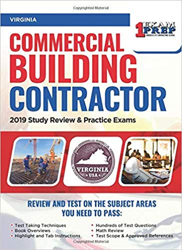 Virginia Commercial Building Contractor: 2019 Study Review & Practice Exams
