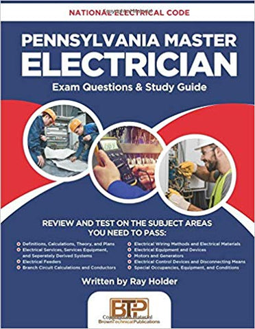 Pennsylvania Master Electrician: National Electrical Code Exam Questions & Study Guide