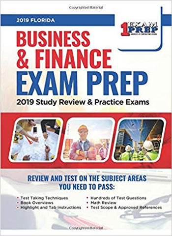 Florida Business & Finance Contractor Exam Prep: 2019 Study & Review - Practice Exams