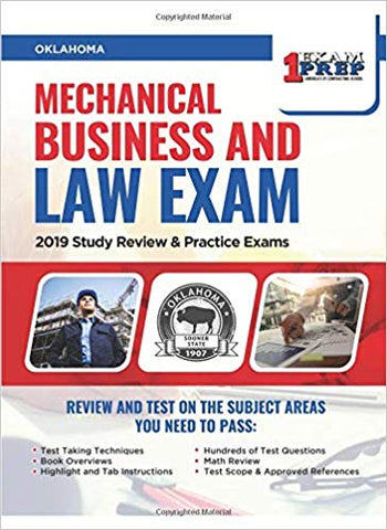 Oklahoma Mechanical Business and Law Exam: 2019 Study Review & Practice Exams