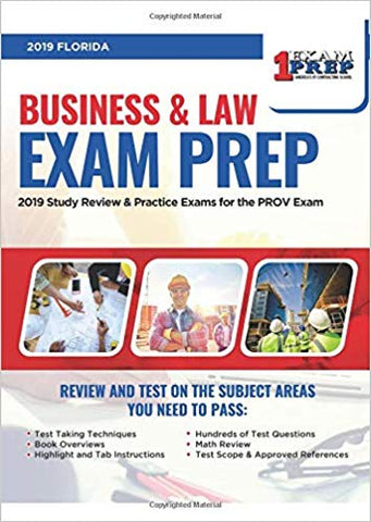 2019 Florida Business & Law Exam Prep: 2019 Study Review & Practice Exams for the PROV Exam