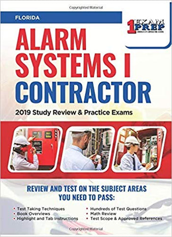 Florida Alarm Systems I Contractor: 2019 Study Review & Practice Exams