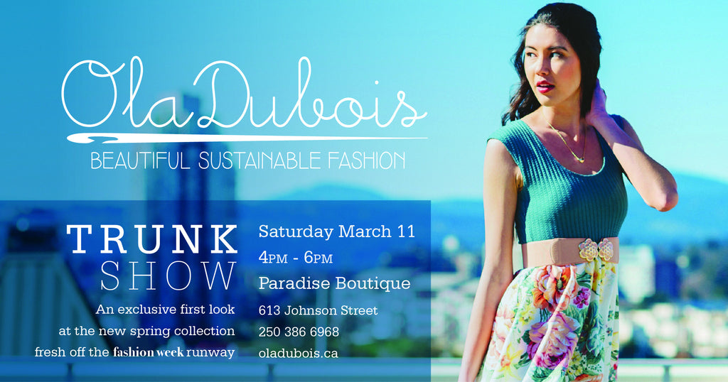 TRUNK SHOW March 11th!