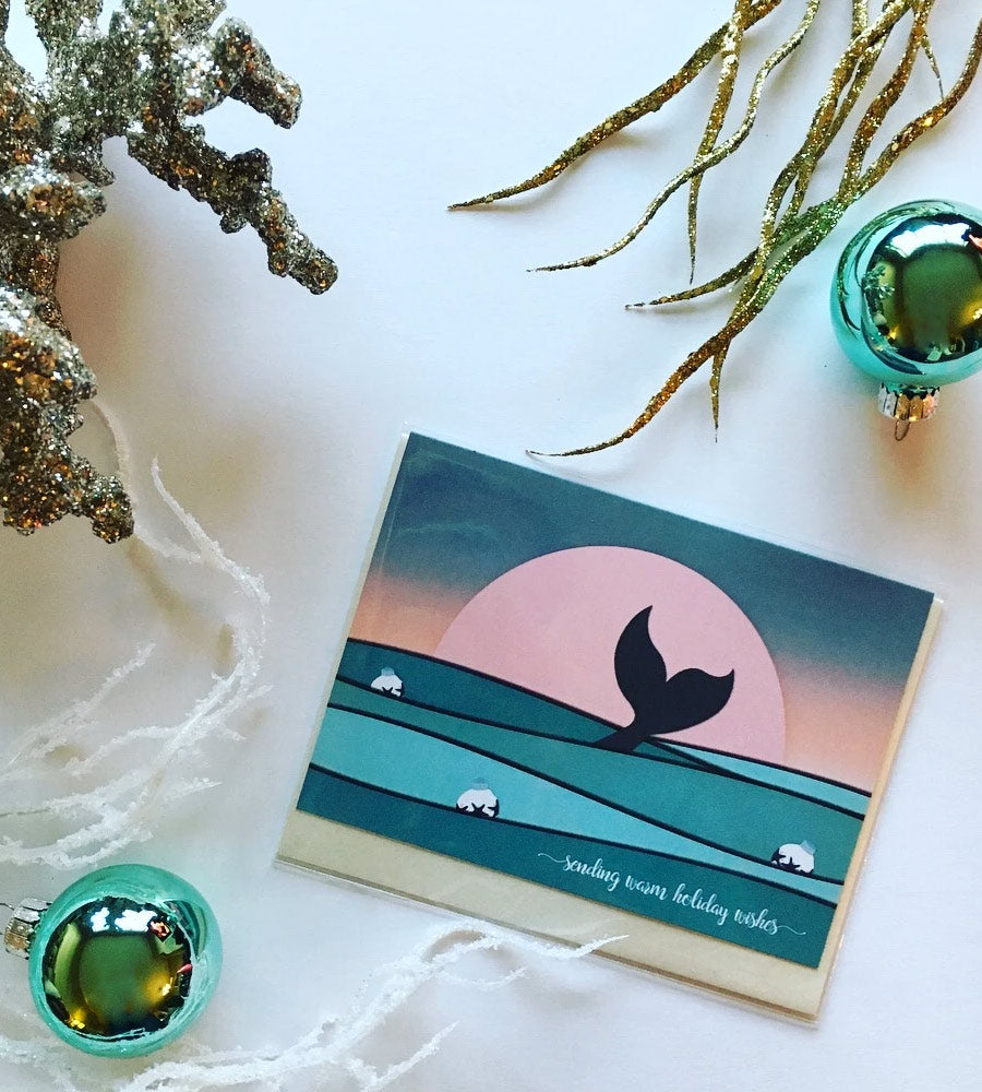 Mermaid Holiday Card by sandy toes shop