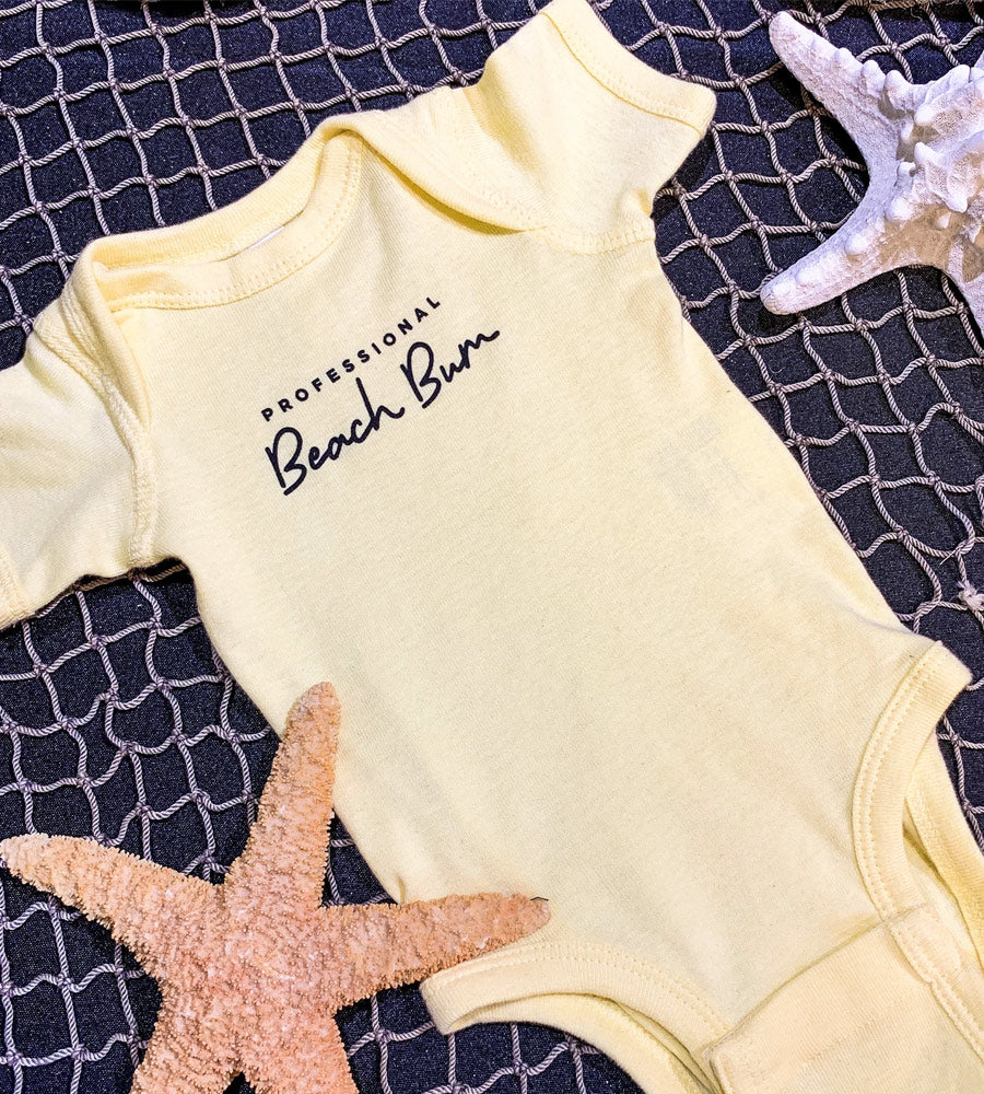 Professional Beach Bum Onesie by Sandy Toes Shop