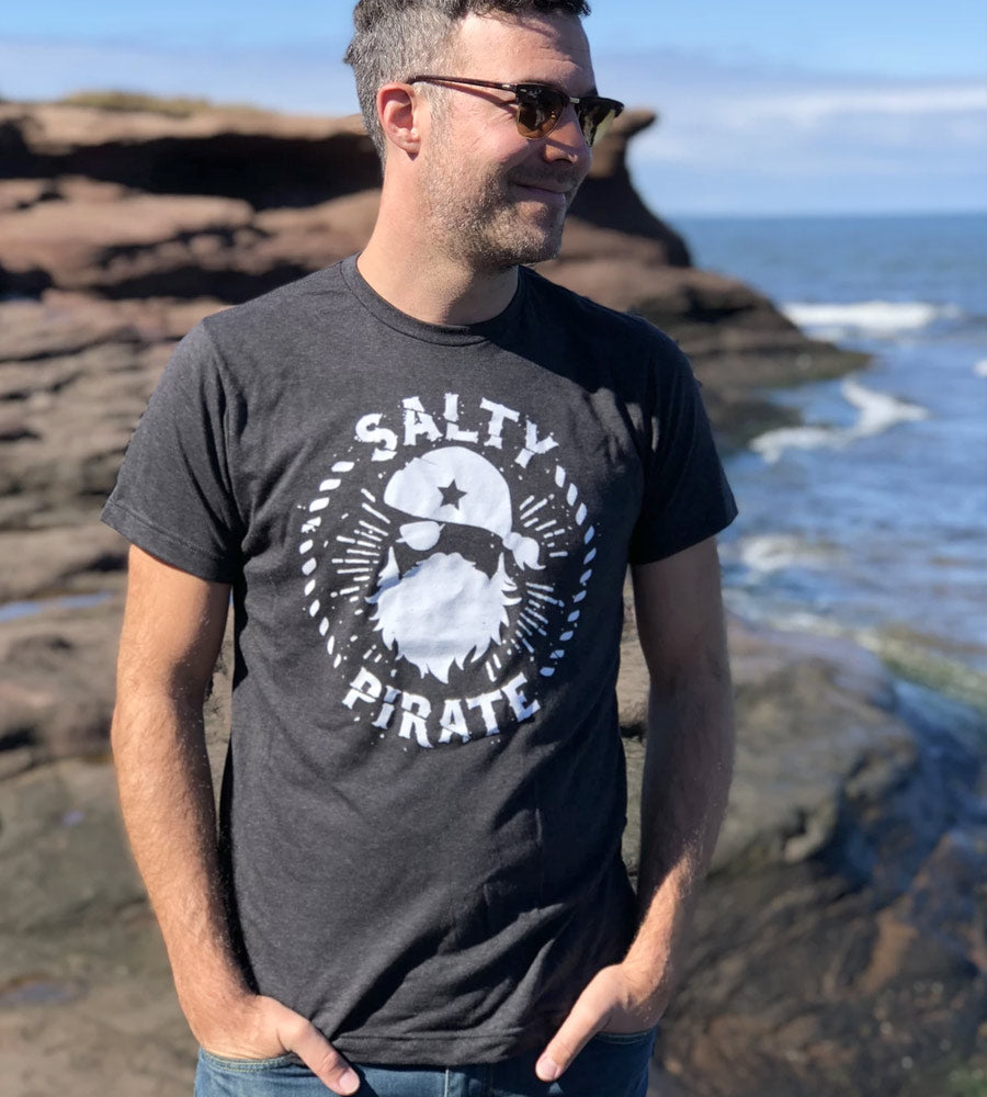 Salty Pirate Men's Tee by Sandy Toes Shop