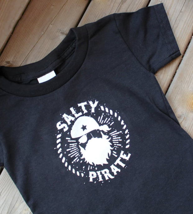 Salty Pirate Toddler Tee by Sandy Toes Shop