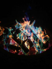 Colored fire flames | Backyard Fire Pit Fun