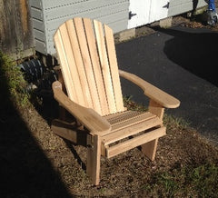 Unfinished Adirondack Chair for the Fire Pit