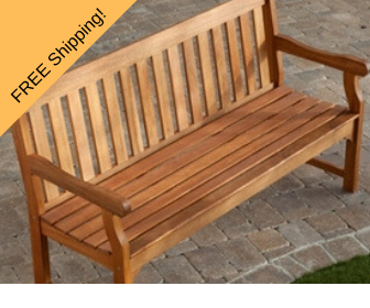 wooden garden bench - 5 feet