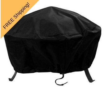 heavy-duty 300D polyester round fire pit cover