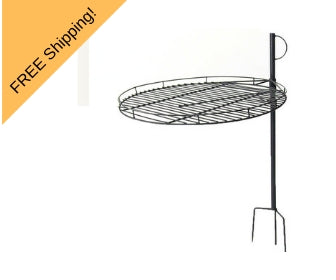 portable height adjustable cooking grill for fire pit