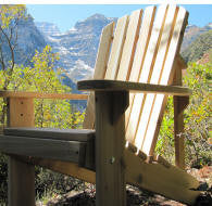 Adirondack Chair Kit - Unfinished/ Unassembled