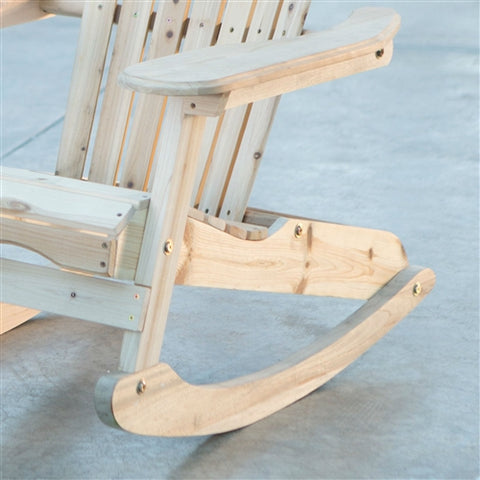All Weather Indoor/Outdoor Natural Adirondack Rocking Chair