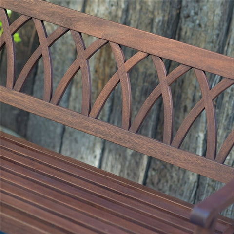 4' Outdoor Garden Bench w/Weather Resistant Finish