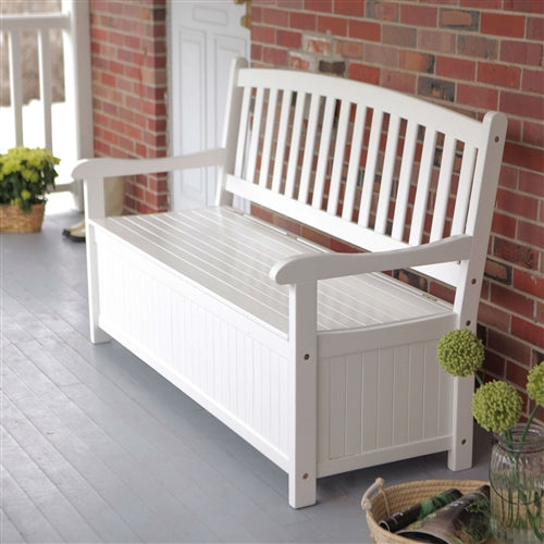 4-Ft Outdoor Patio Garden Bench Deck Box with Storage