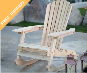 outdoor adirondack fir wood rocking chair