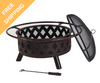 "Bronze Crossweave Fire Pit - 30"" free shipping"