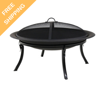 Portable Camping Fire Pit w/Carrying Case