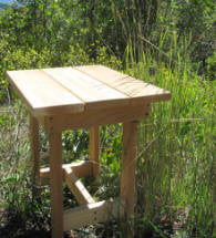 Adirondack Style End Table Kit - Unfinished/Unassembled