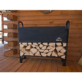 Outdoor 4-Foot Firewood Rack with Cover