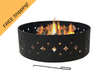 heavy duty fire pit ring with diamond cutouts
