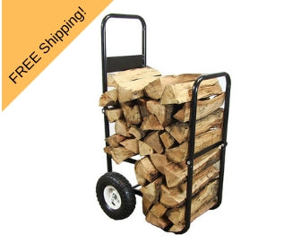 fire wood log cart with wheels