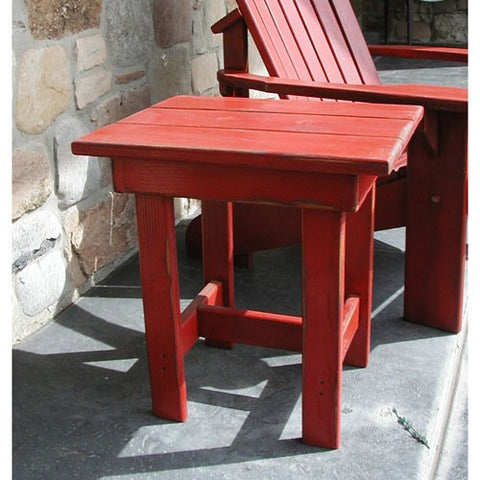 Adirondack Style End Table - Painted/Partially Assembled