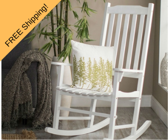 indoor outdoor white rocker