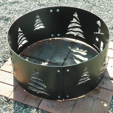 themed fire pit ring made in maine