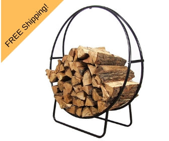tubular steel fire wood log rack