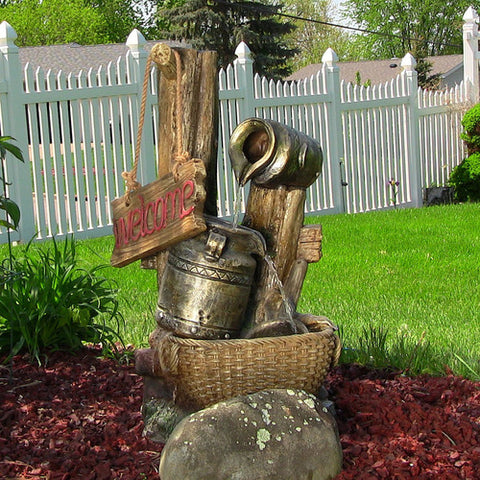 Outdoor Water Fountain - Country Welcome