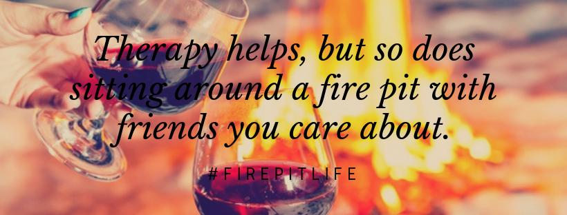 Spend time with special friends around a fire pit