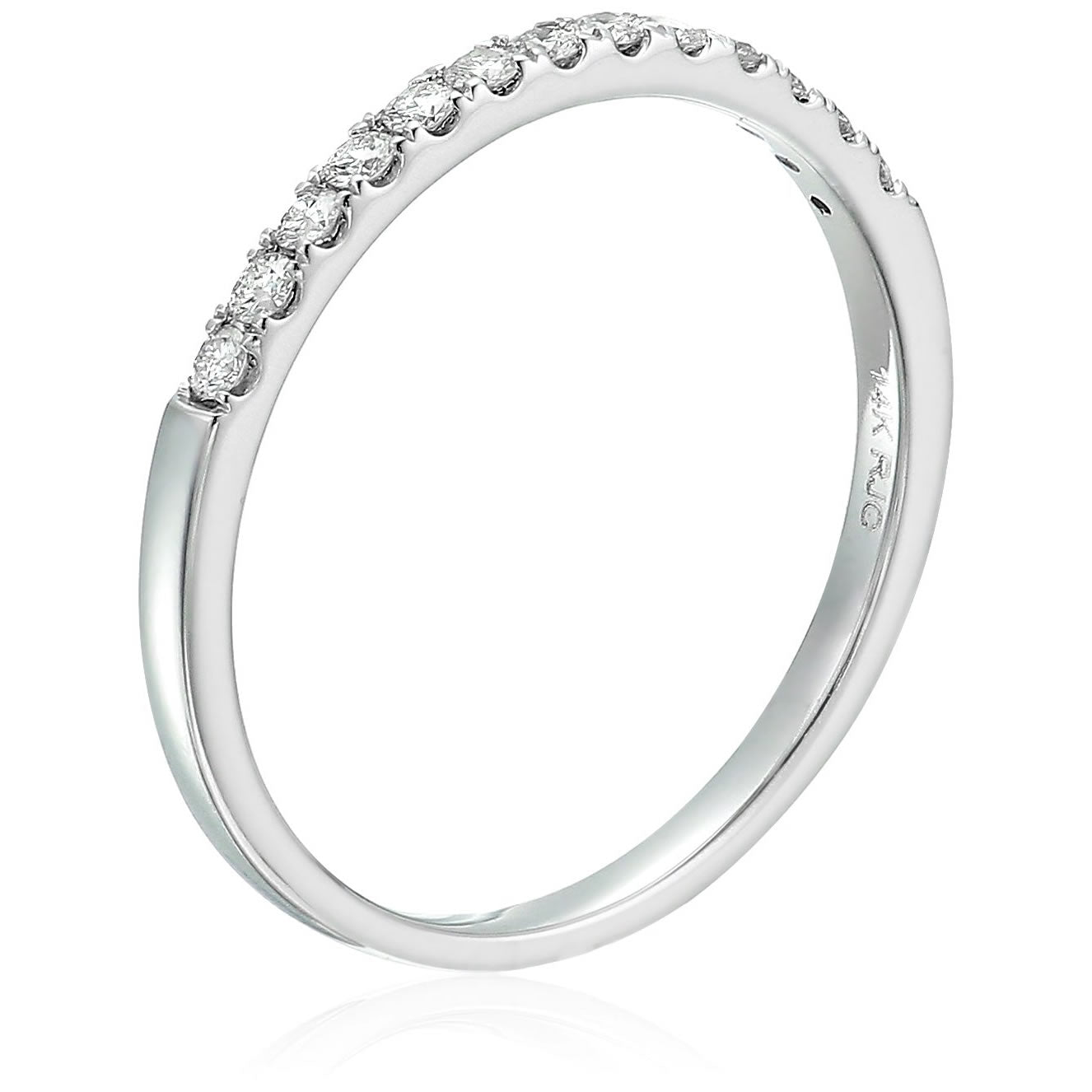 Vir Jewels 1//5 cttw Pave Diamond Wedding Band in 14k White or Yellow Gold