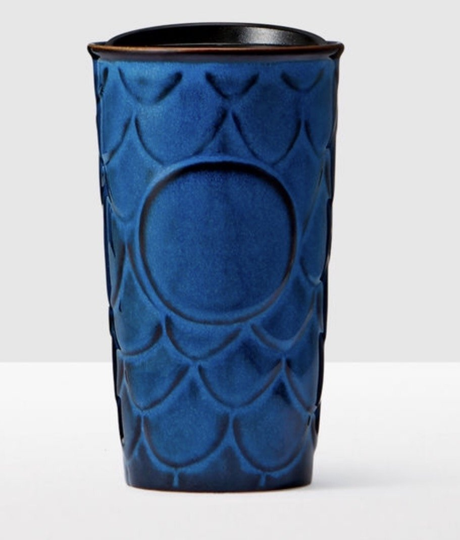 navy blue starbucks travel mug