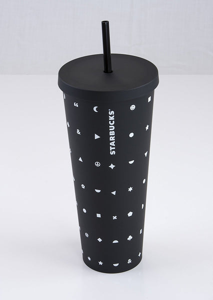 matte black starbucks cup
