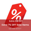 Extra 7% OFF Sale Items