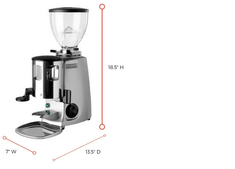 mazzer mini dimensions