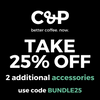 Take 25% off any 2 additional accessories