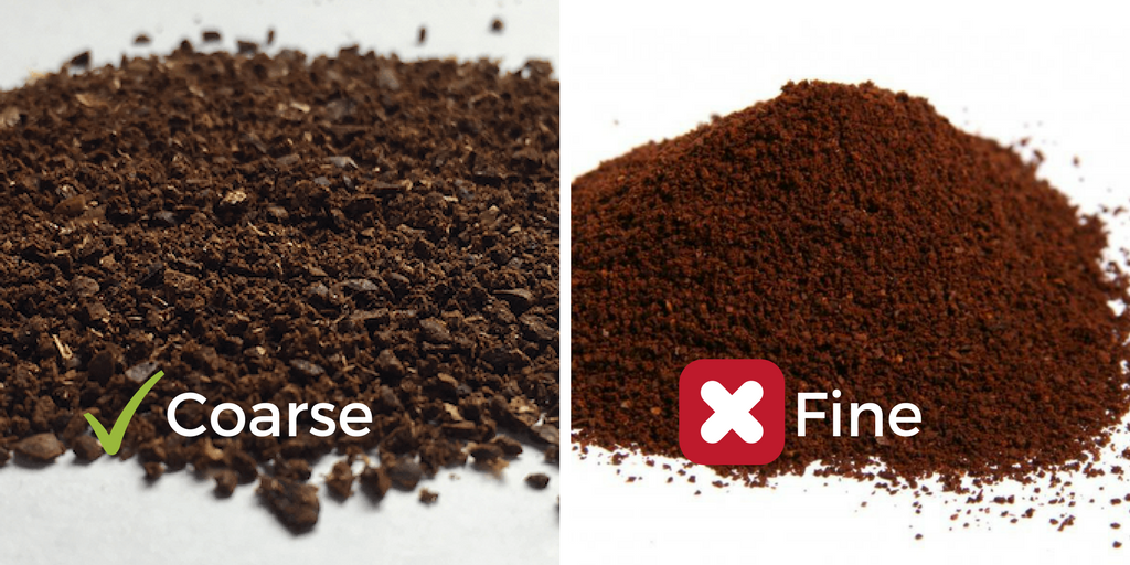 coarse vs fine coffee grounds