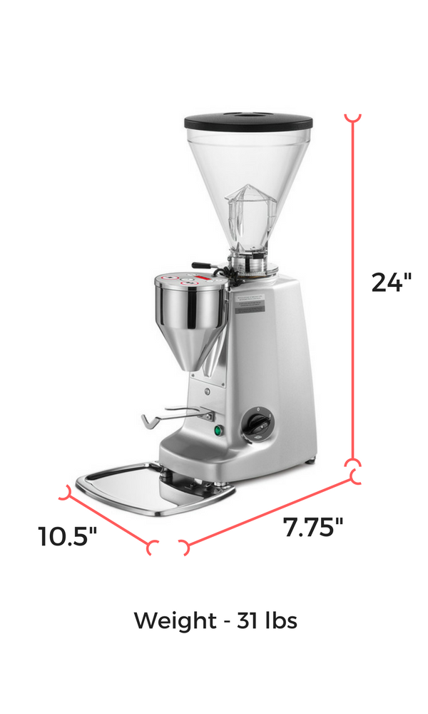 mazzer super jolly doserless dimensions