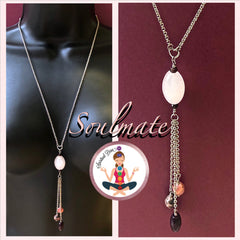 Soulmate Energy Healing Crystal Reiki Gemstone Tassel Love Necklace - Spiritual Diva