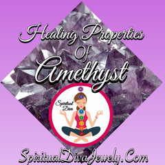 Amethyst grief stress protection spiritual Diva Jewelry