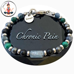 Chronic Pain Relief Healing Crystal Reiki Gemstone Strength Bracelet - Spiritual Diva Jewelry