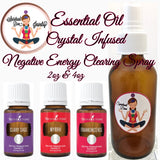 essential oil crystal infused negative energy clearing spray - Spiritual Diva