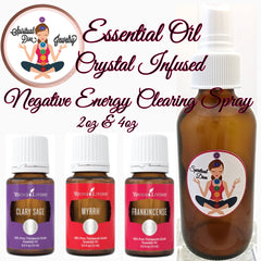 Spiritual Diva Crystal Essential Oil negative Energy clearing Spray