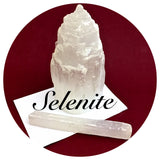 selenite tower and stick Spiritual Diva