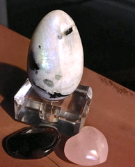 Moonstone Garnet and Rose Quartz Solar eclipse Spiritual Diva