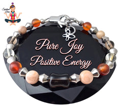 Pure Joy Positive Energy Healing Crystal Reiki adjustable Gemstone Bracelet - Spiritual Diva Jewelry